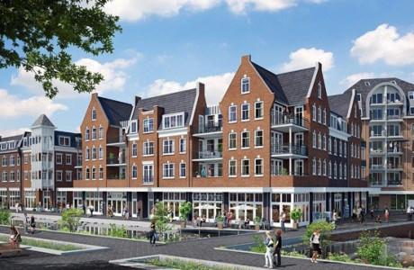 101 Appartementen met winkels plan Bellevue te Groesbeek.